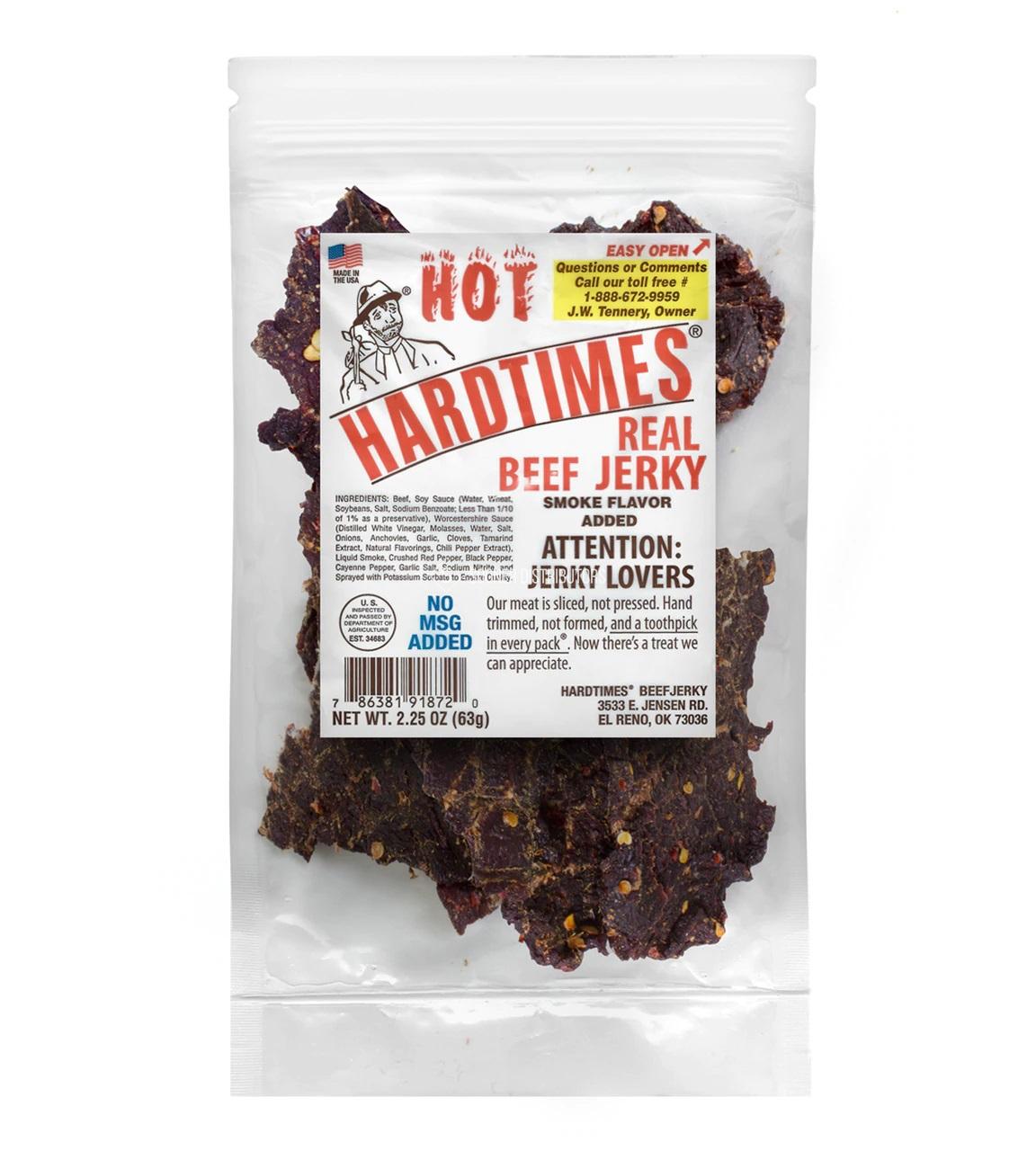 HardTimes Beef Jerky Hot Pouches